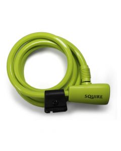 Squire Padlocks 116 LIME GREEN - Key Operated Cable Lock 10mm x 1800mm - Lime Green