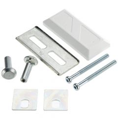 ABUS PV1820 White Staple Connecting Plate for Door Bars