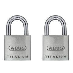ABUS Titalium 64TI/20 Twin Pack