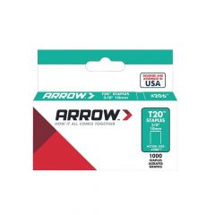 "Arrow T20 Staples 10mm 3/8"" (1000 Box) - 206"