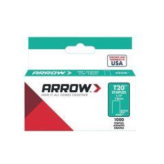 "Arrow T20 Staples 12mm 1/2"" (1000 Box) - 208"