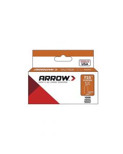 "Arrow T25 Round Crown Staples White 14mm 9/16"" (1000 Box) - 259W"