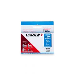 """Arrow T50 Stainless Staples 10mm 3/8"""" (1000 Box) - 506SS"""
