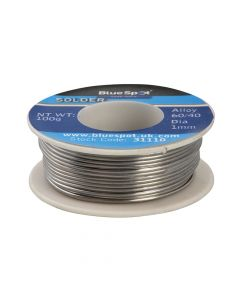 BlueSpot Tools Flux Covered Solder 100g 60/40 - B/S31110