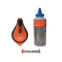 Bahco Blue Chalk, Chalk Line & Line Level Set - BAHCLSET