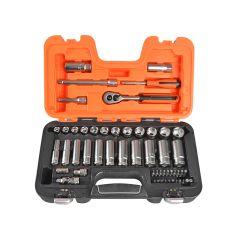 Bahco Socket Set of 53 Metric 1/4in & 3/8in Deep Drive - BAHS330L