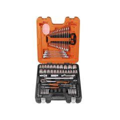 Bahco Socket & Spanner Set of 94 Metric & AF 1/4 & 1/2in Drive - BAHS877