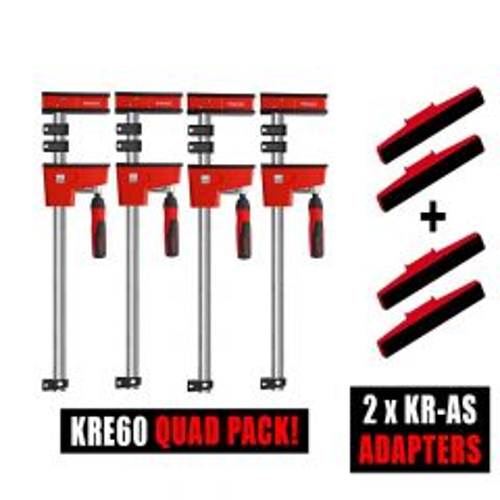 Bessey 4 x K Body REVO KRE60 / 2 x Tilting K Body adapter Sets
