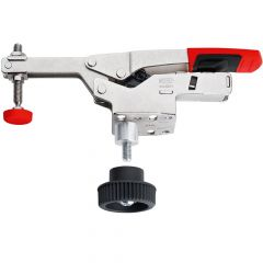 Bessey Horizontal Toggle Clamp With Open Arm and Horizontal Base Plate + Accessory Set