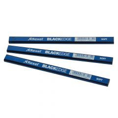 Blackedge Carpenter's Pencils - Blue / Soft Card of 12 - BLAB
