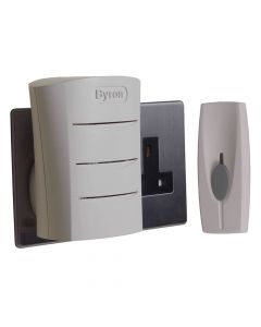 Byron Wireless Doorbell with Plug In Chime 60m - BYRBY102