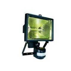 Byron Halogen Floodlight with PIR Black 400 Watt - BYRES400