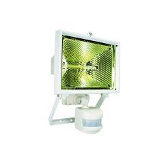 Byron Halogen Floodlight with PIR White 400 Watt - BYRES400W