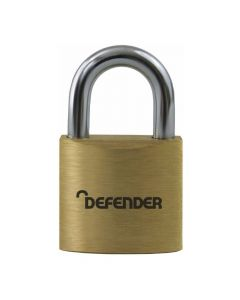 Defender 30mm Brass Padlock Keyed Alike - DFBP3KA1