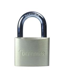 Defender 40mm Brass Padlock Keyed Alike - DFBP4KA1
