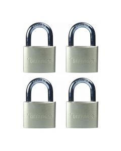 Defender 40mm Brass Padlock Quad Pack - DFBP4Q
