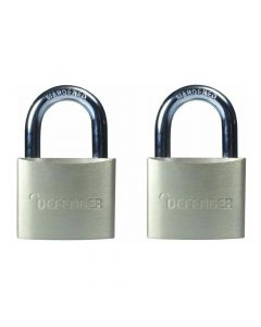 Defender 40mm Brass Padlock Twin Pack - DFBP4T