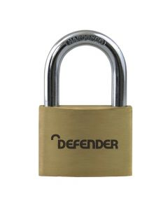 Defender 50mm Brass Padlock Keyed Alike - DFBP5KA1