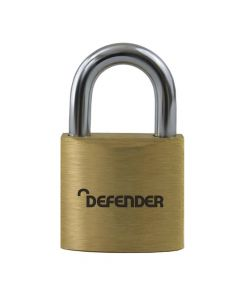 Defender 60mm Brass Padlock Keyed Alike - DFBP6KA1
