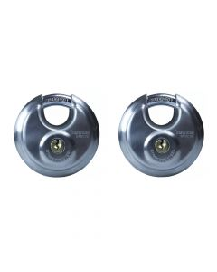 Defender 70mm Discus Padlock Twin Pack - DFDC70T