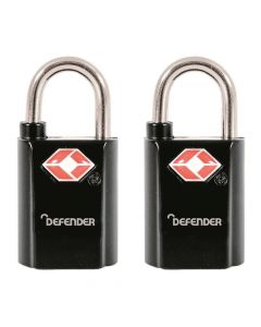 Defender Twinpack 20mm Travel Sentry Key Padlocks - DFTSA20T