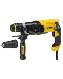 DEWALT SDS Plus 3 Mode QCC Hammer Drill 800W 240V - DEWD25134K