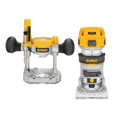 DEWALT 1/4in Premium Plunge & Fixed Base Combi Router 900W 110V - DEWD26204KL