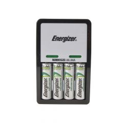 Energizer Compact Charger + 4 x AA 1300 mAh Batteries - ENGCOMPAC