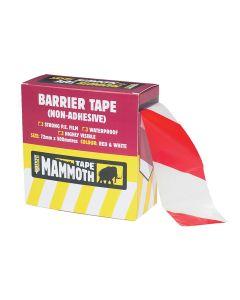 Everbuild Barrier Tape Red / White 72mm x 500m - EVB2BARRD500