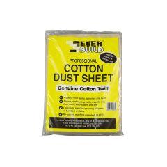 Everbuild Cotton Dust Sheet 3.6 x 2.7m - EVBDUST