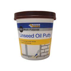 Everbuild 101 Multi-Purpose Linseed Oil Putty, Brown 1kg - EVBMPPB1KG