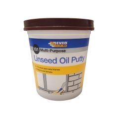 Everbuild 101 Multi-Purpose Linseed Oil Putty, Brown 2kg - EVBMPPB2KG