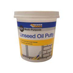 Everbuild 101 Multi-Purpose Linseed Oil Putty, Natural 1kg - EVBMPPN1KG