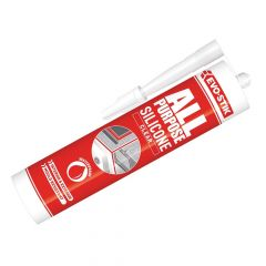 Evo-Stik 112896 All Purpose Flex Silicone Sealant Clear C20 - EVOAPFSSC