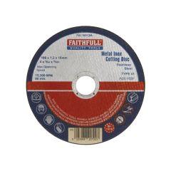 Faithfull Metal Cut Off Disc 100 x 1.2 x 16mm - FAI10012M