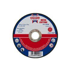 Faithfull Metal Cut Off Disc 100 x 3.2 x 16mm - FAI1003M