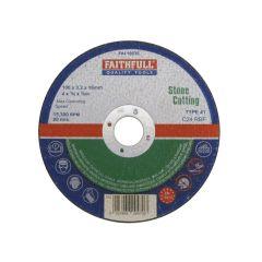 Faithfull Stone Cut Off Disc 100 x 3.2 x 16mm - FAI1003S