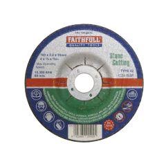 Faithfull Depressed Centre Stone Cut Off Disc 100 x 3.2 x 16mm - FAI1003SDC