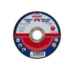 Faithfull Metal Cut Off Disc 115 x 1.2 x 22mm - FAI11512M