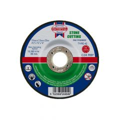 Faithfull Depressed Centre Stone Cut Off Disc 115 x 3.2 x 22mm - FAI1153SDC