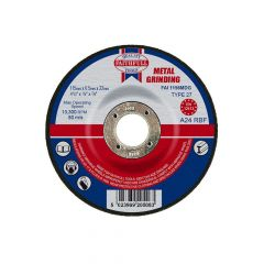 Faithfull Depressed Centre Metal Grinding Disc 115 x 6.5 x 22mm - FAI1156MDG