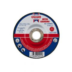 Faithfull Depressed Centre Metal Grinding Disc 125 x 6.5 x 22mm - FAI1256MDG