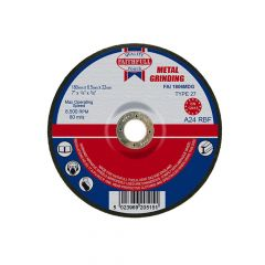 Faithfull Depressed Centre Metal Grinding Disc 180 x 6.5 x 22mm - FAI1806MDG