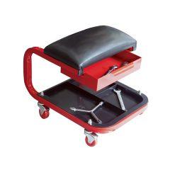 Faithfull Seat On Wheels C/W Tray & Drawer - FAIAUSEAT