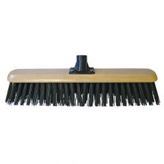 Faithfull Platform Broom Head Black PVC 45cm (18in) Threaded Socket - FAIBRPVC18R