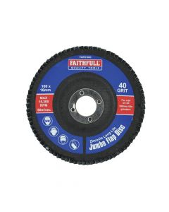 Faithfull Flap Disc 100mm Coarse - FAIFD100C