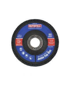 Faithfull Flap Disc 115mm Fine - FAIFD115F