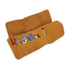 Faithfull 10 Pocket Leather Tool Roll 48 x 27cm - FAILTR10