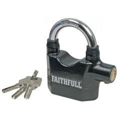 Faithfull Padlock with Security Alarm 70mm - FAIPLALARM
