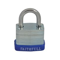 Faithfull Laminated Steel Padlock 30mm 3 Keys - FAIPLLAM30